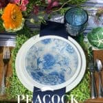 A Blue and White Tablescape in the Garden + A DIY Project