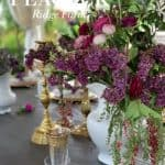 A Lilac and Brass Tablescape