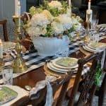 How to Create a Beautiful Buffalo Check Farmhouse Tablescape