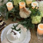 Fall Table Decor with White Pumpkins